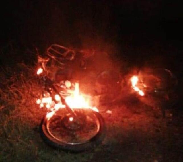 Motocicleta explosivos
