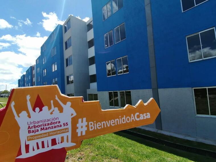 Viviendas que serán entregadas a familias desalojadas en Bogotá.