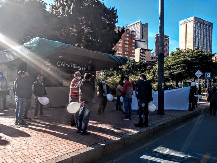 Comerciantes del centro de Bogotá recuperaron el CAI de San Diego,