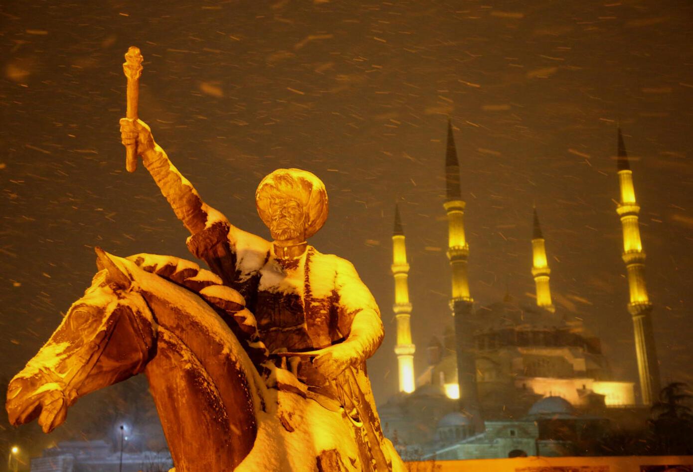 Turquía cubierta de nieve