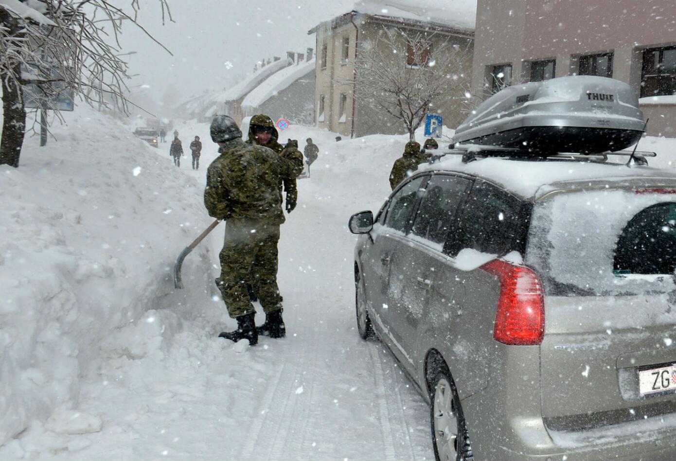 Tormenta de nieve en Croacia
