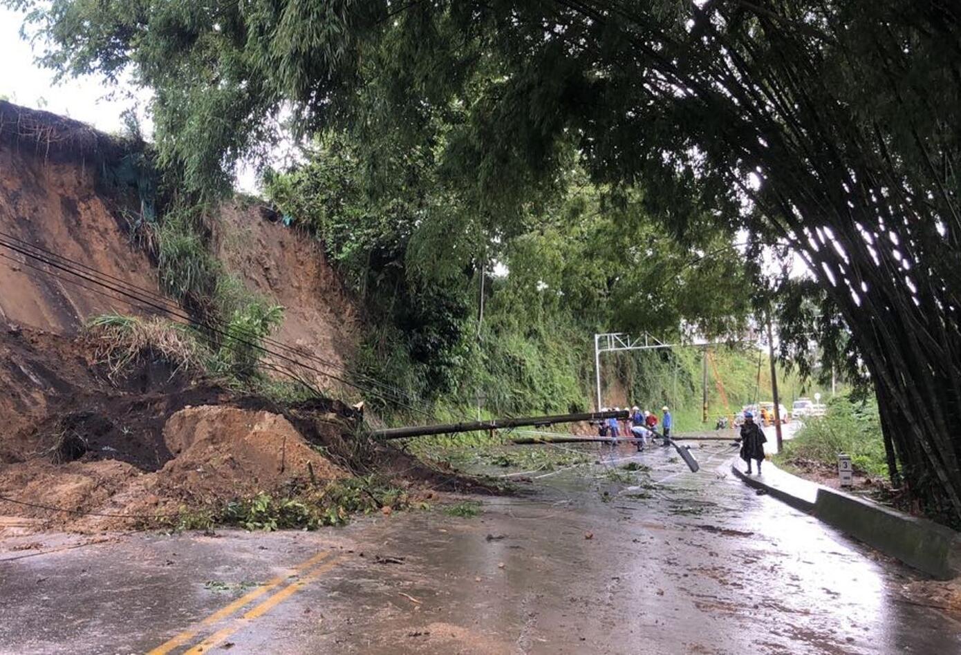Derrumbe en Quindío