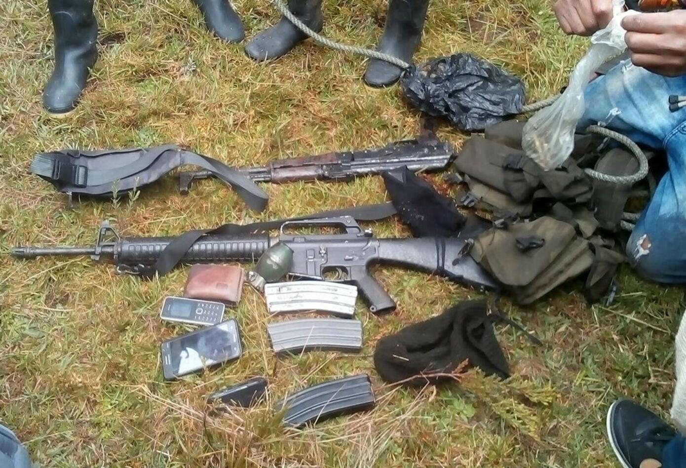 Armas de disidencias de las Farc