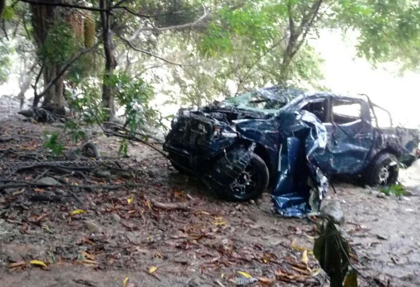 Camioneta se accidentó en el Boquerón