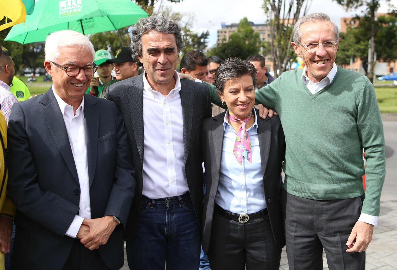 Jorge Robledo, Sergio Fajardo, Claudia López y Antonio Navarro Wolf
