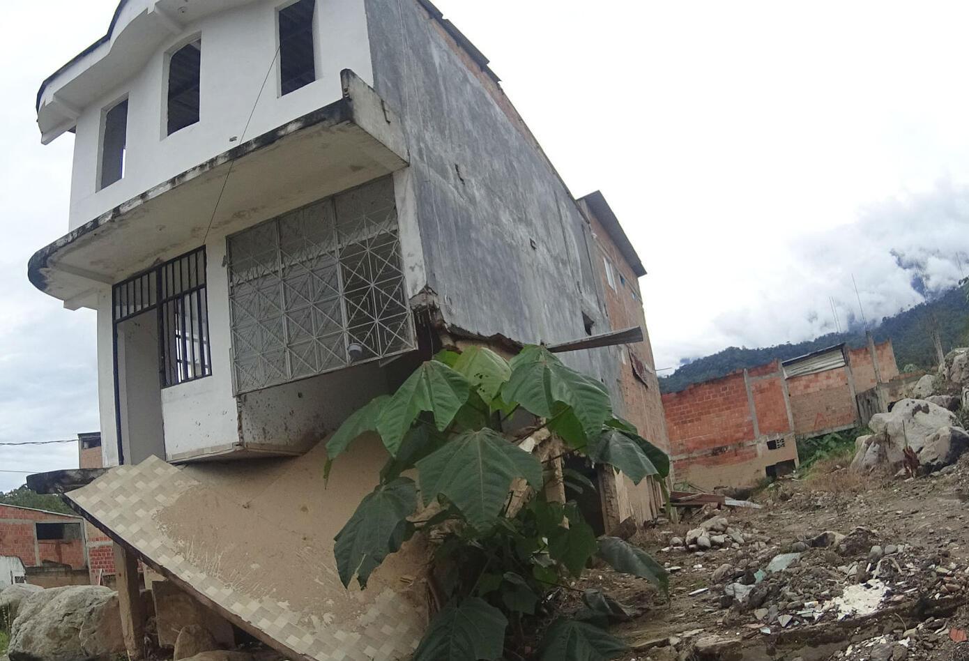 Una casa que quedó en pie tras la avalancha en Mocoa.