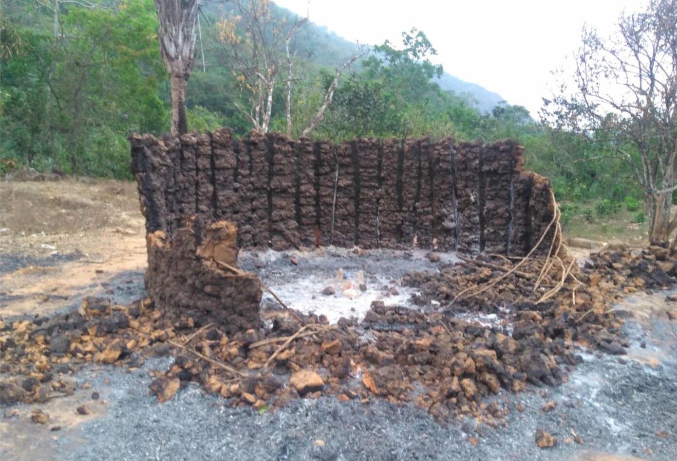 Incendio en el pueblo Kogui
