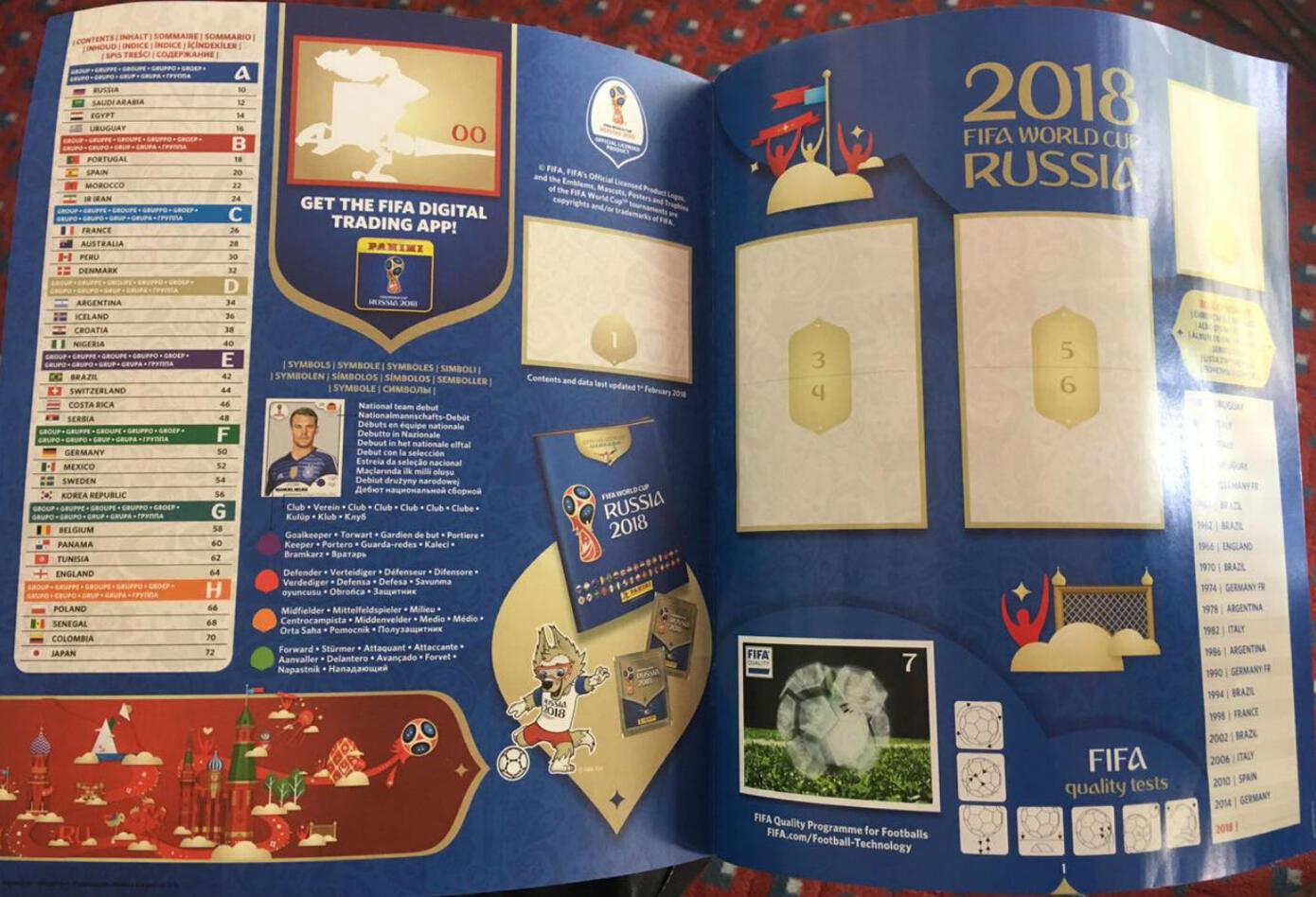 Imágenes del álbum oficial del Mundial de Rusia 2018