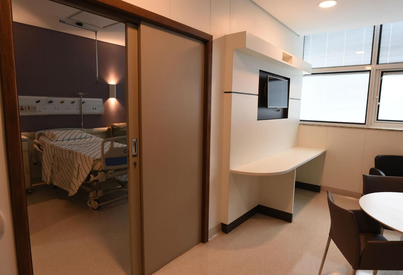 Habitación de Neymar en el hospital de Belo Horizonte