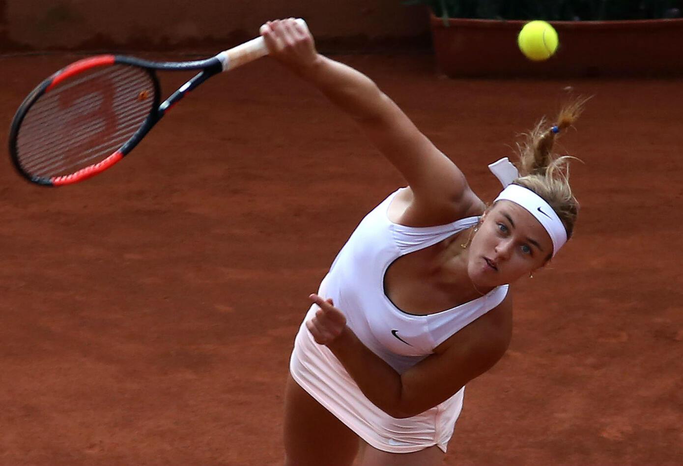 La tenista eslovaca Anna Karolina Schmiedlova