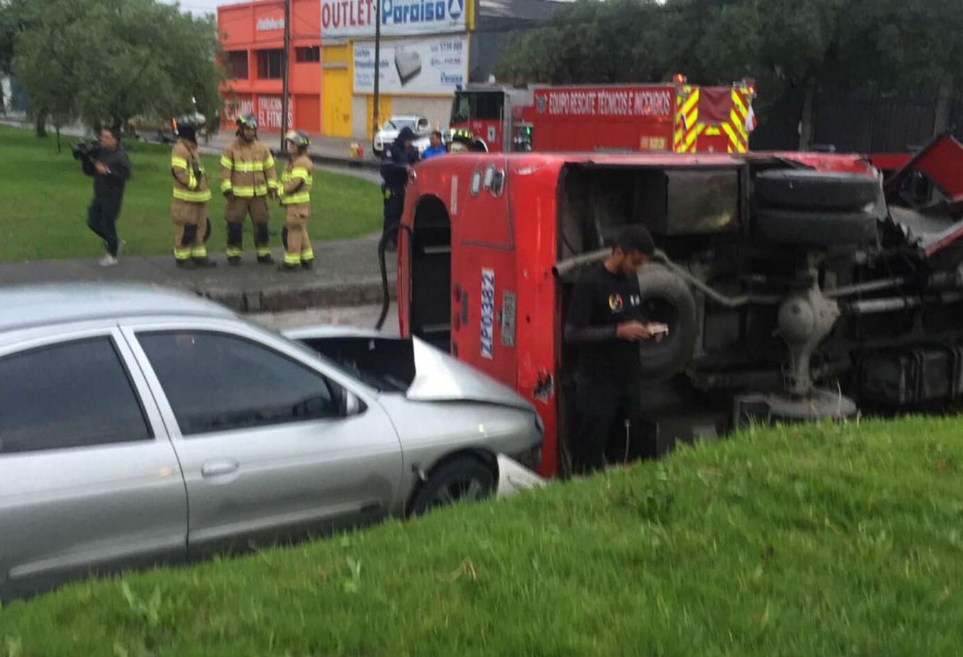 Accidente de bus del Sitp provisional