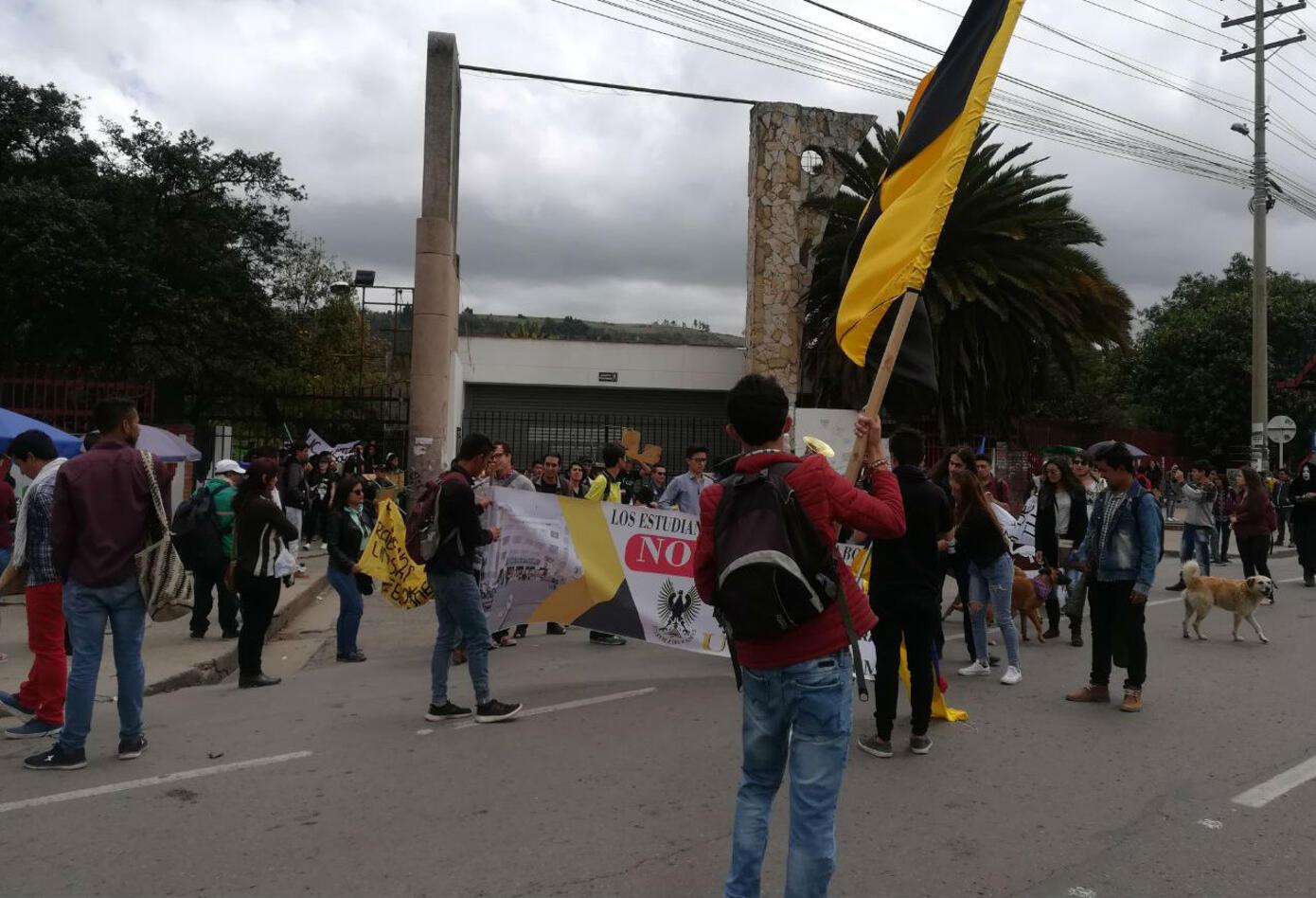 Marchas en Tunja