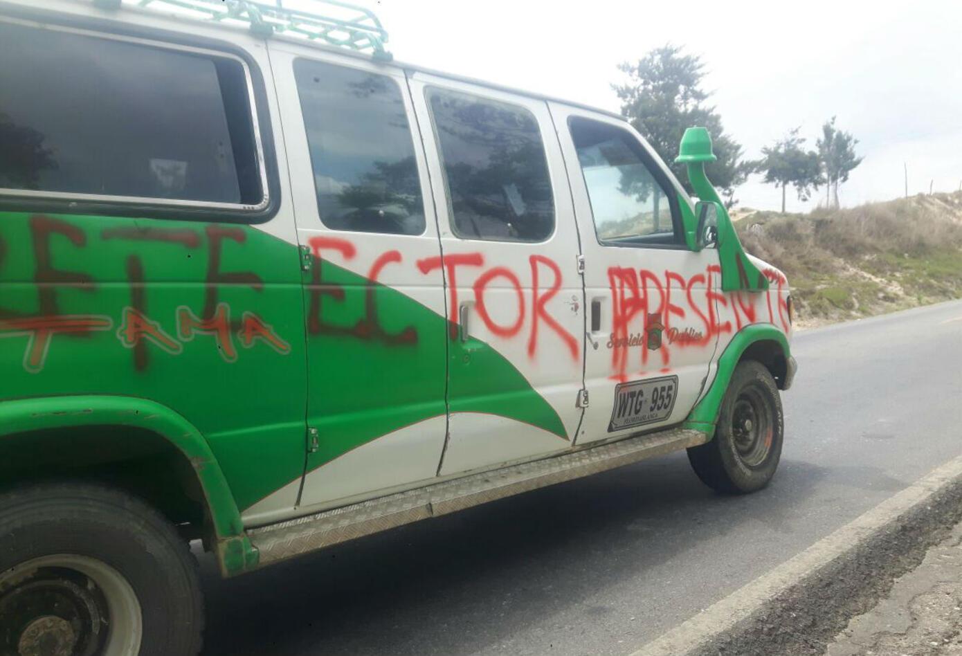 Buses afectados en paro armado en el Catatumbo