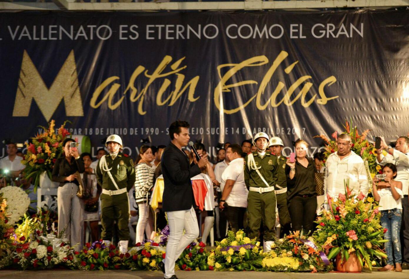 Silvestre Dangond realizó homenaje a Martín Elías