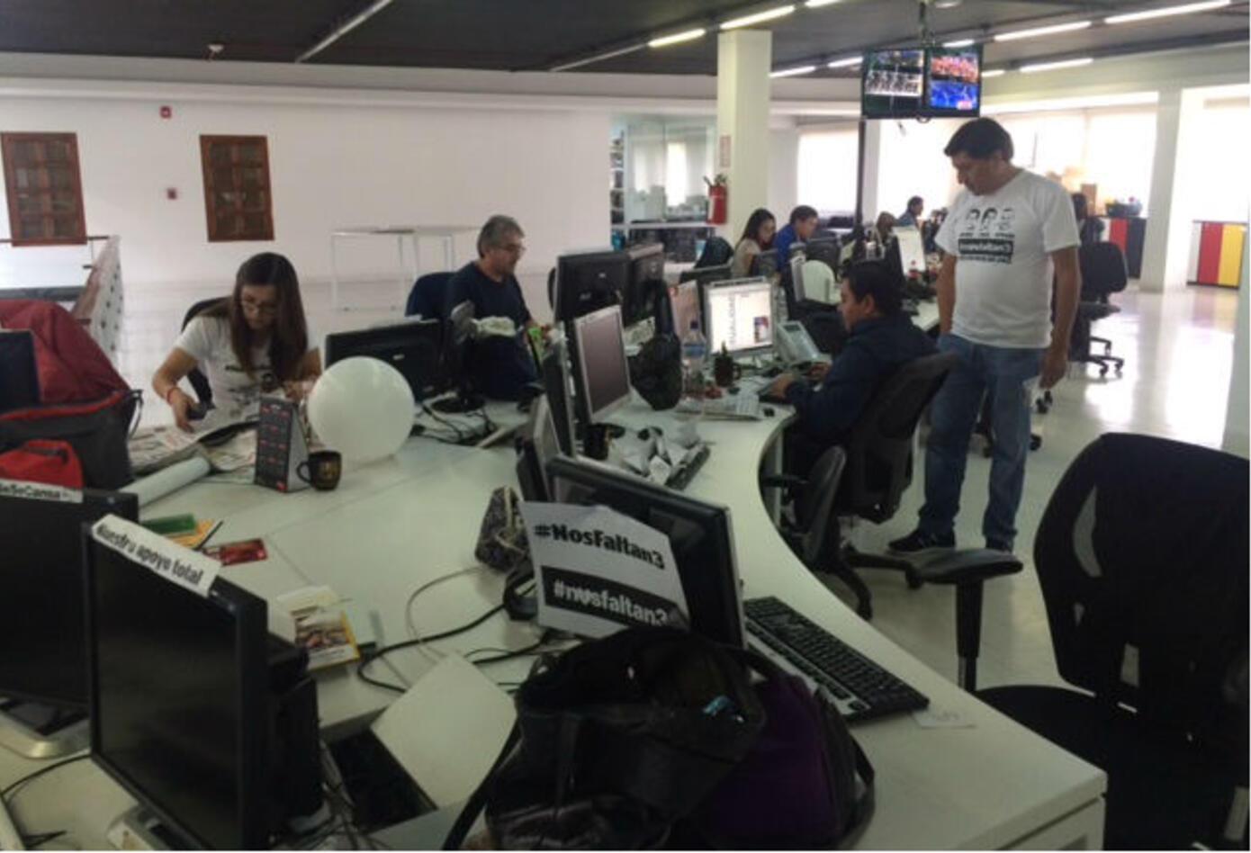 Redacción del diario del diario El Comercio.