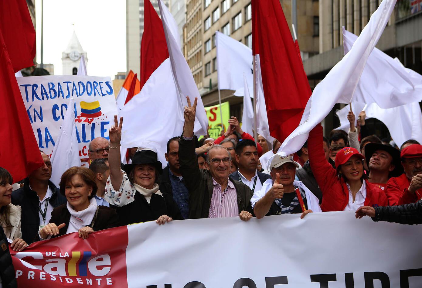 Marcha del primero de mayo en Bogotá