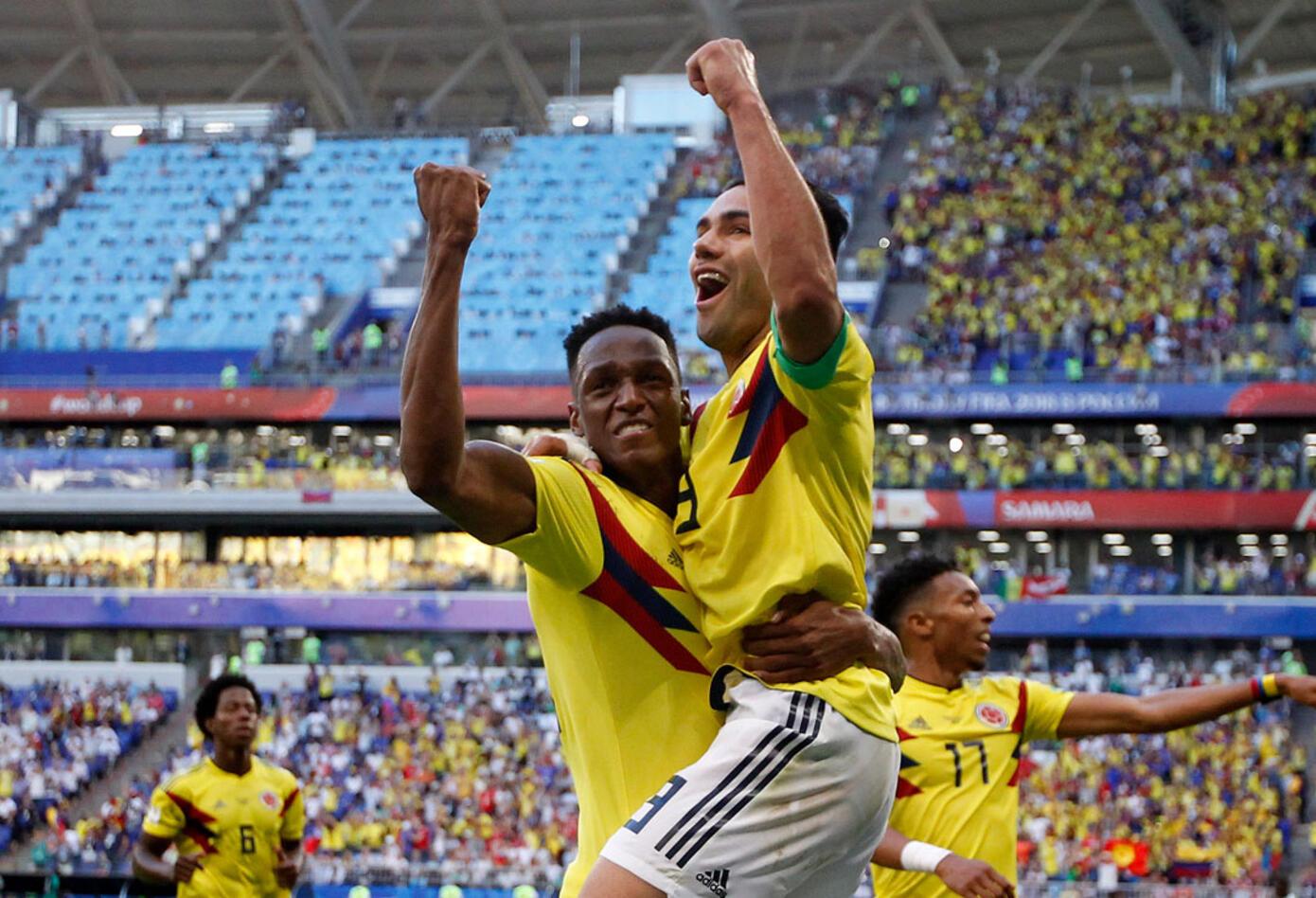 Colombia celebra la victoria ante Senegal en el Mundial Rusia 2018
