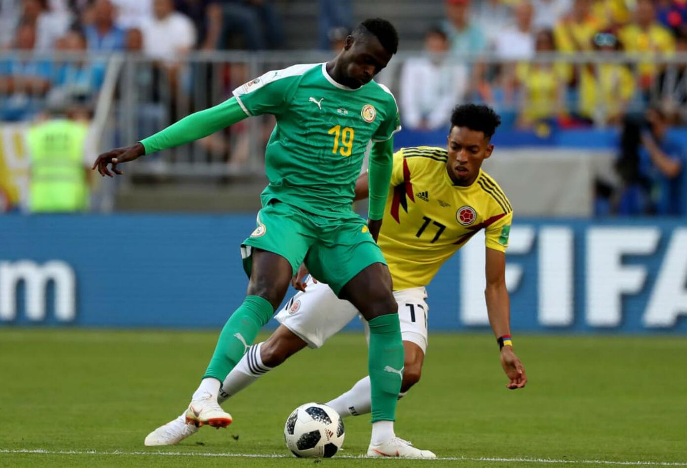 Johan Mojica en partido Colombia vs Senegal
