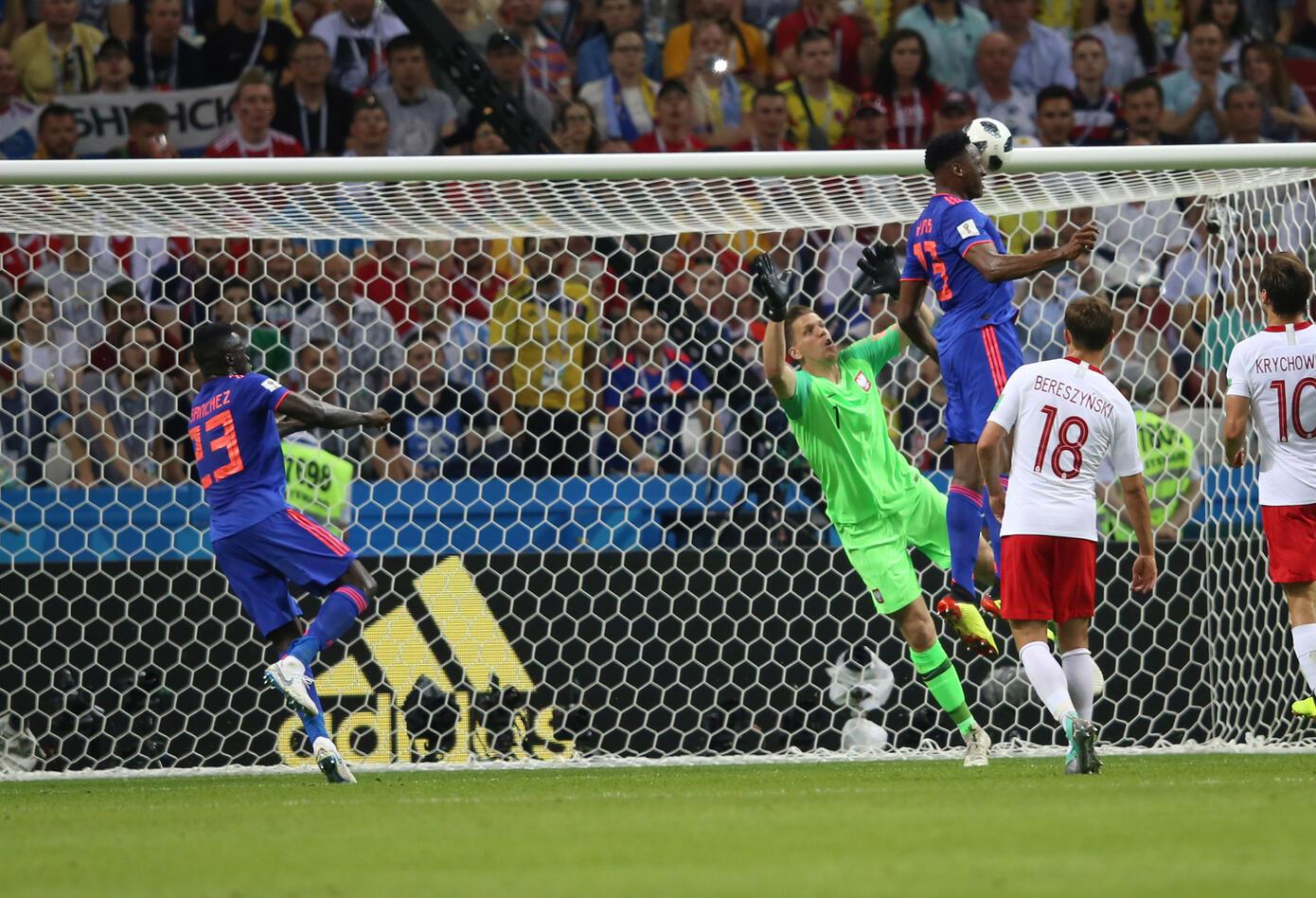 Gol de Yerry Mina ante Polonia