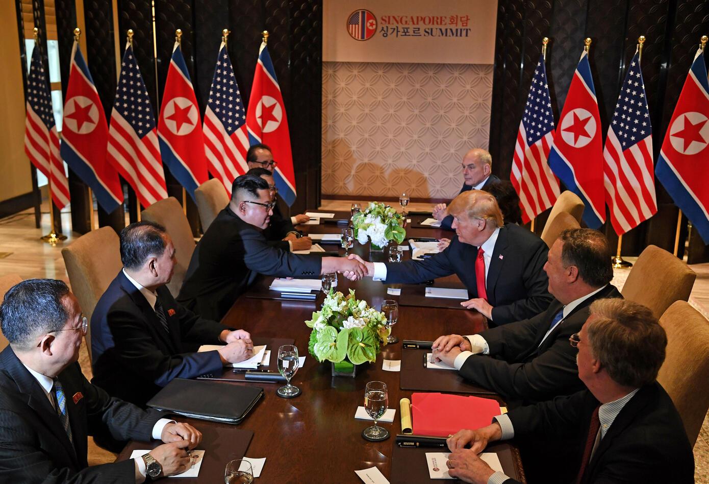 Trump y Kim
