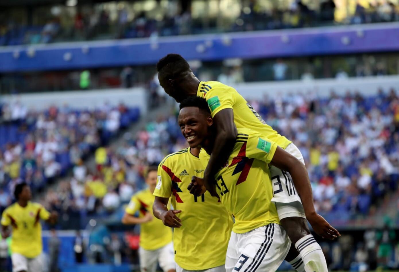 Yerry Mina marcó gol en partido Colombia vs Senegal