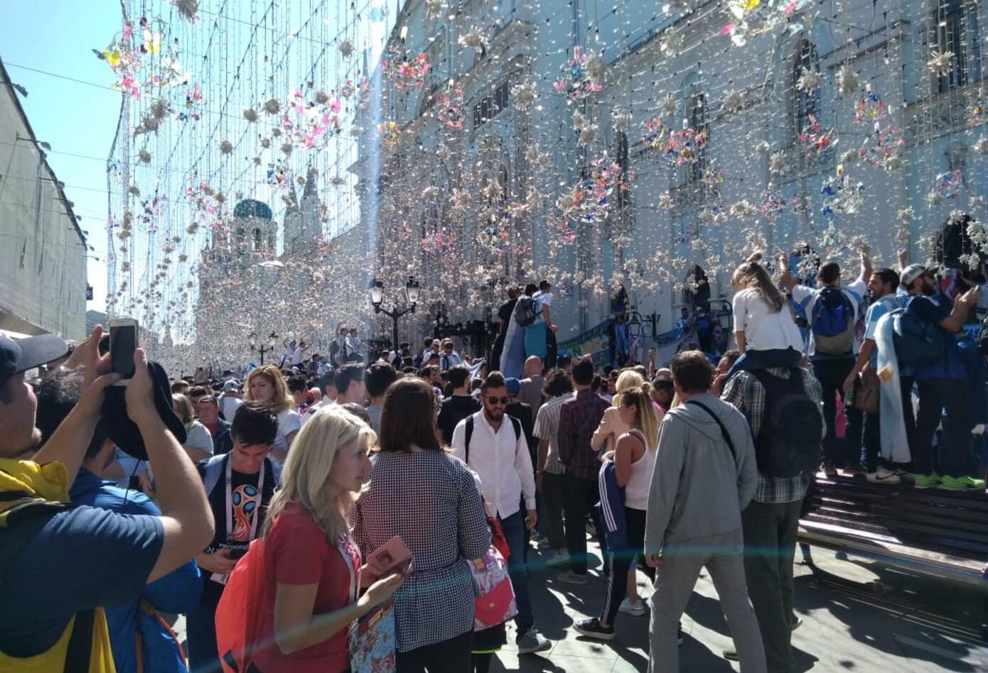 Nikolskaya es la calle de moda en Moscú, con motivo del Mundial de Rusia.