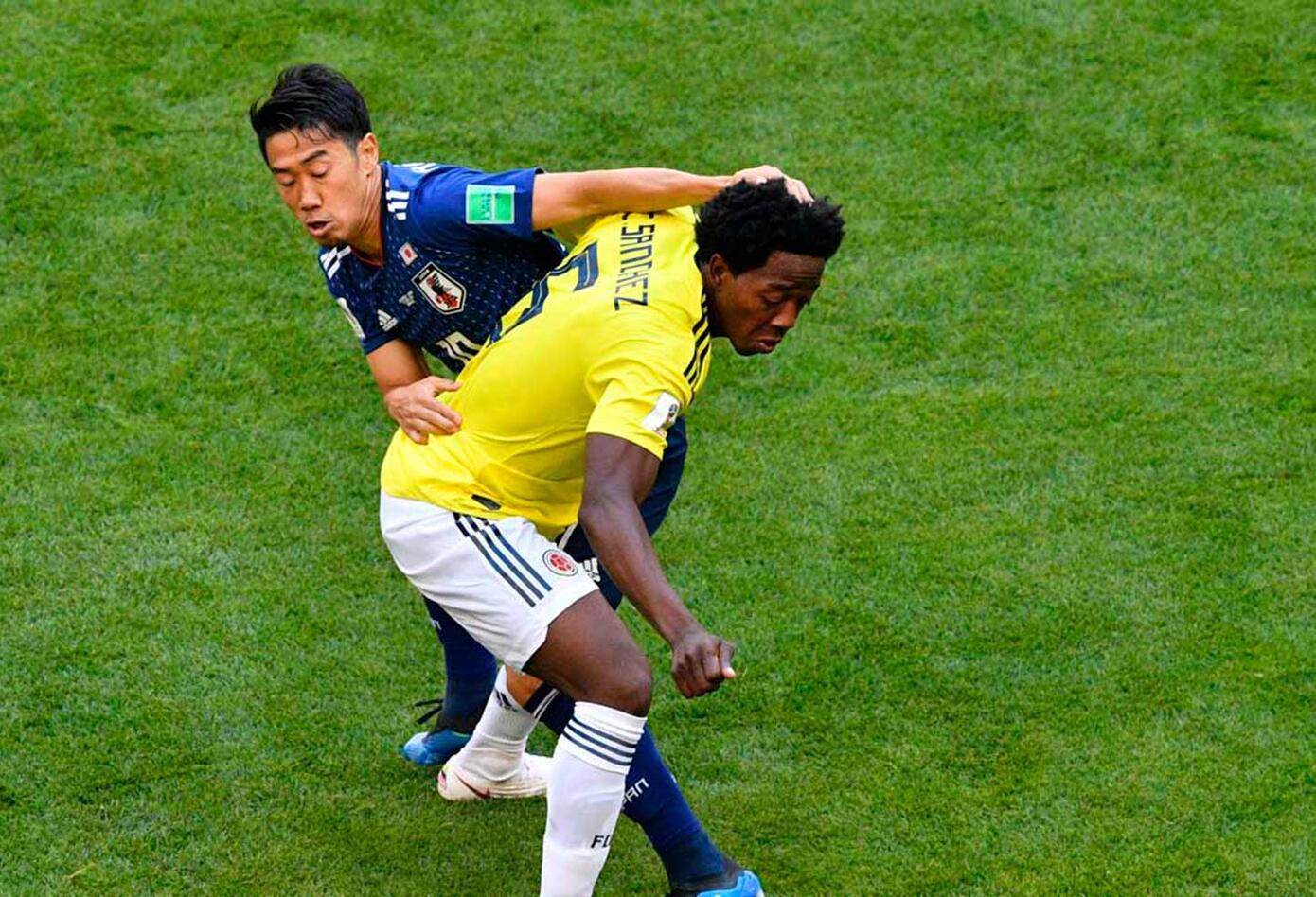 Colombia vs japón (primer tiempo empate)