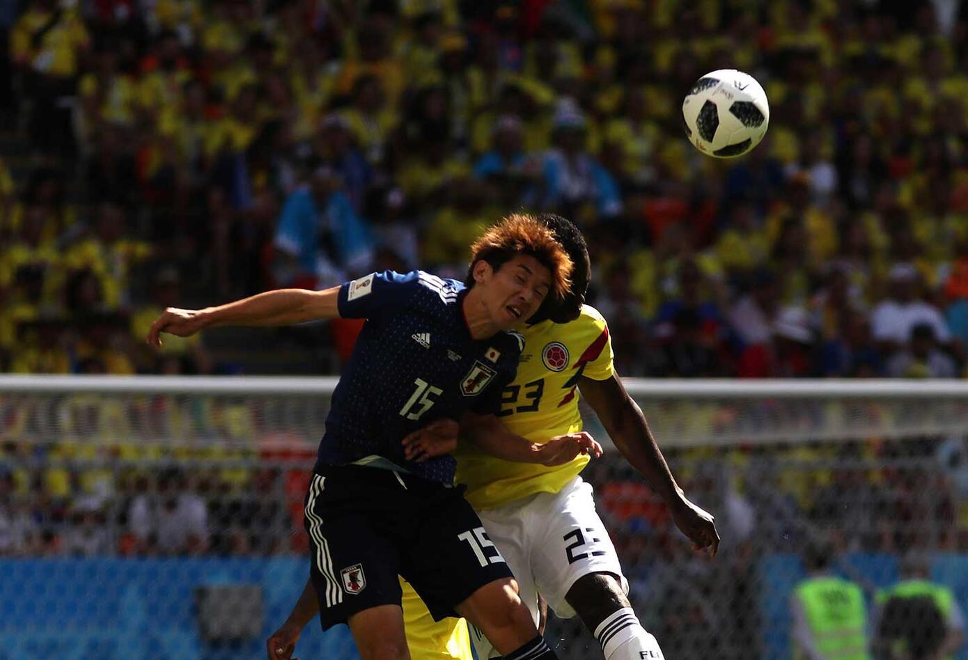 Colombia ante japón (primer tiempo empate)