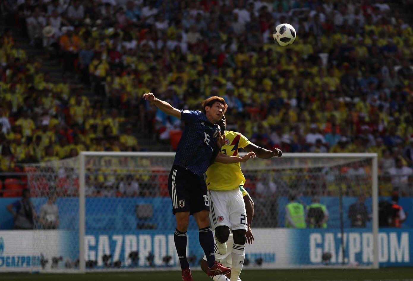 Colombia enfrenta a japón (primer tiempo empate)