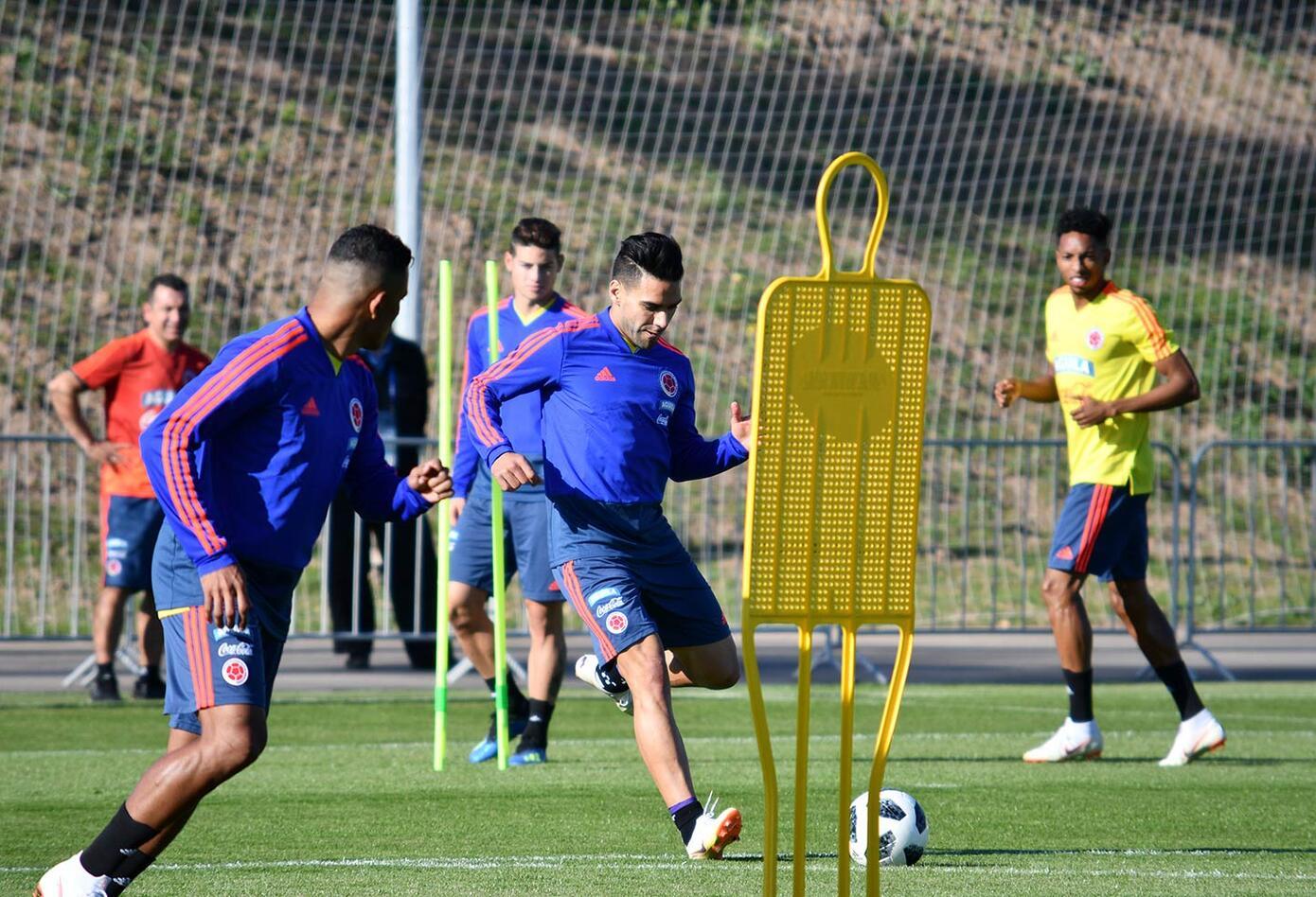 El entrenamiento de la Selección Colombia en Kazán, antes de viajar a Saransk