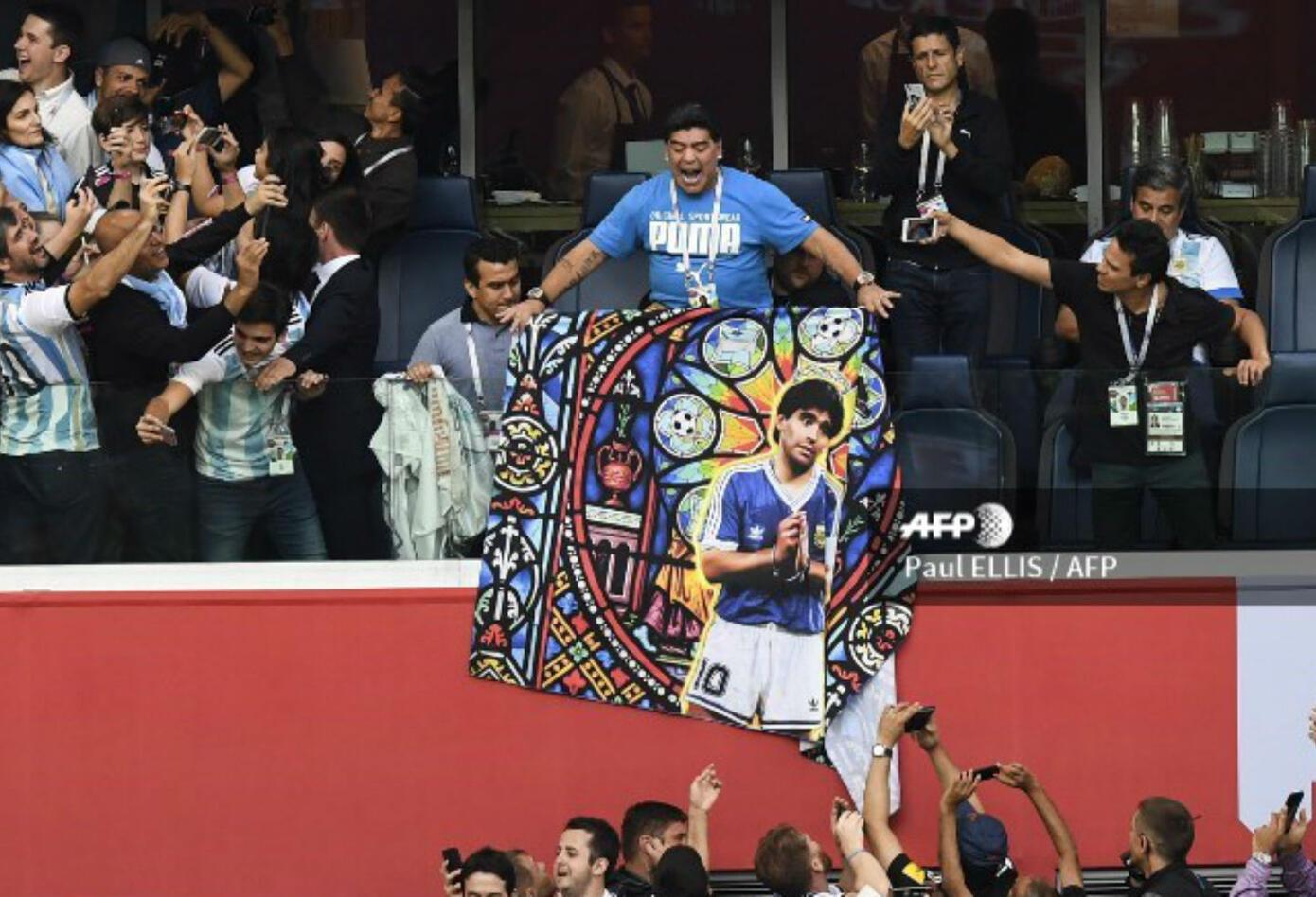 De manera insólita se comportó Diego Maradona en el partido entre Argentina y Nigeria