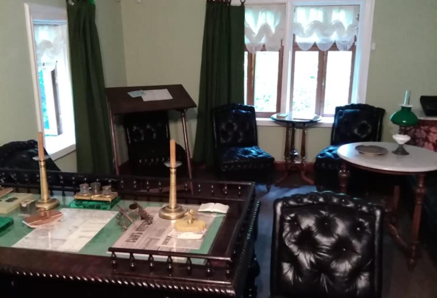El estudio donde Tolstoi escribió «La muerte de Iván Ilich».