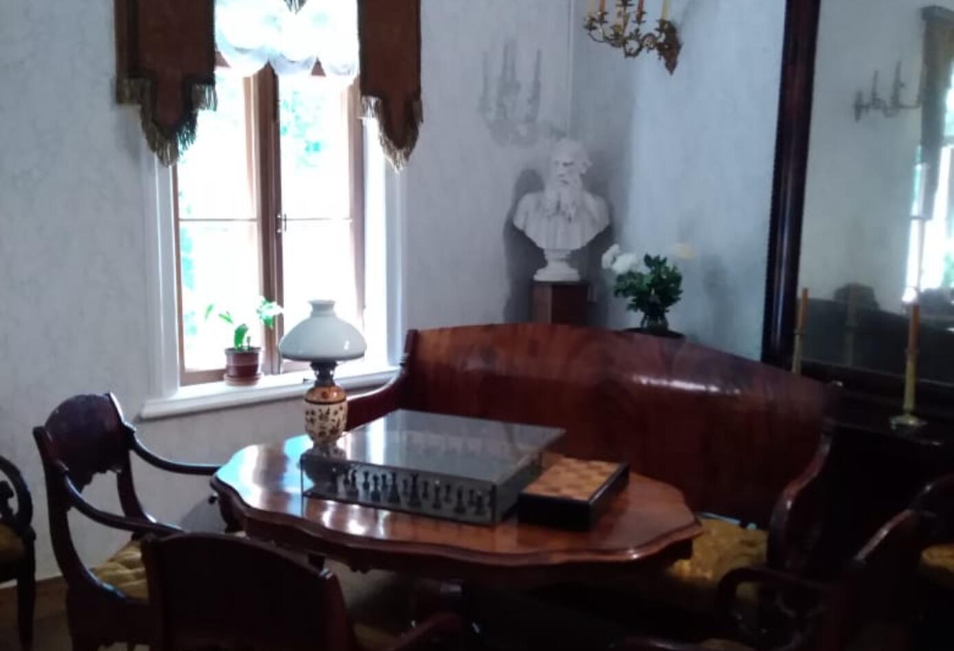 El hall donde se recibían las visitas el escritor León Tolstoi