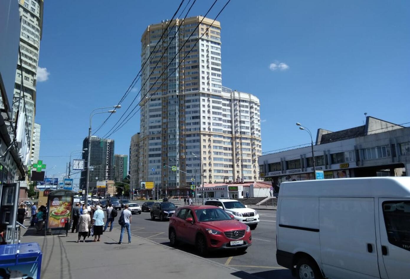 La arquitectura de Moscú comienza a cambiar con el recorrido.