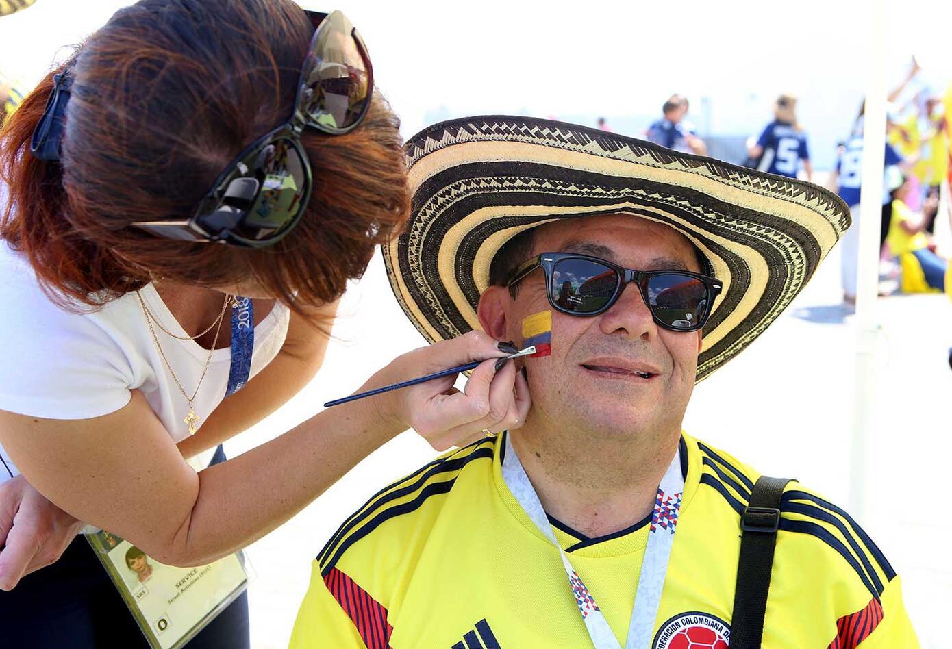 Colombiano apoya a la Selección Colombia