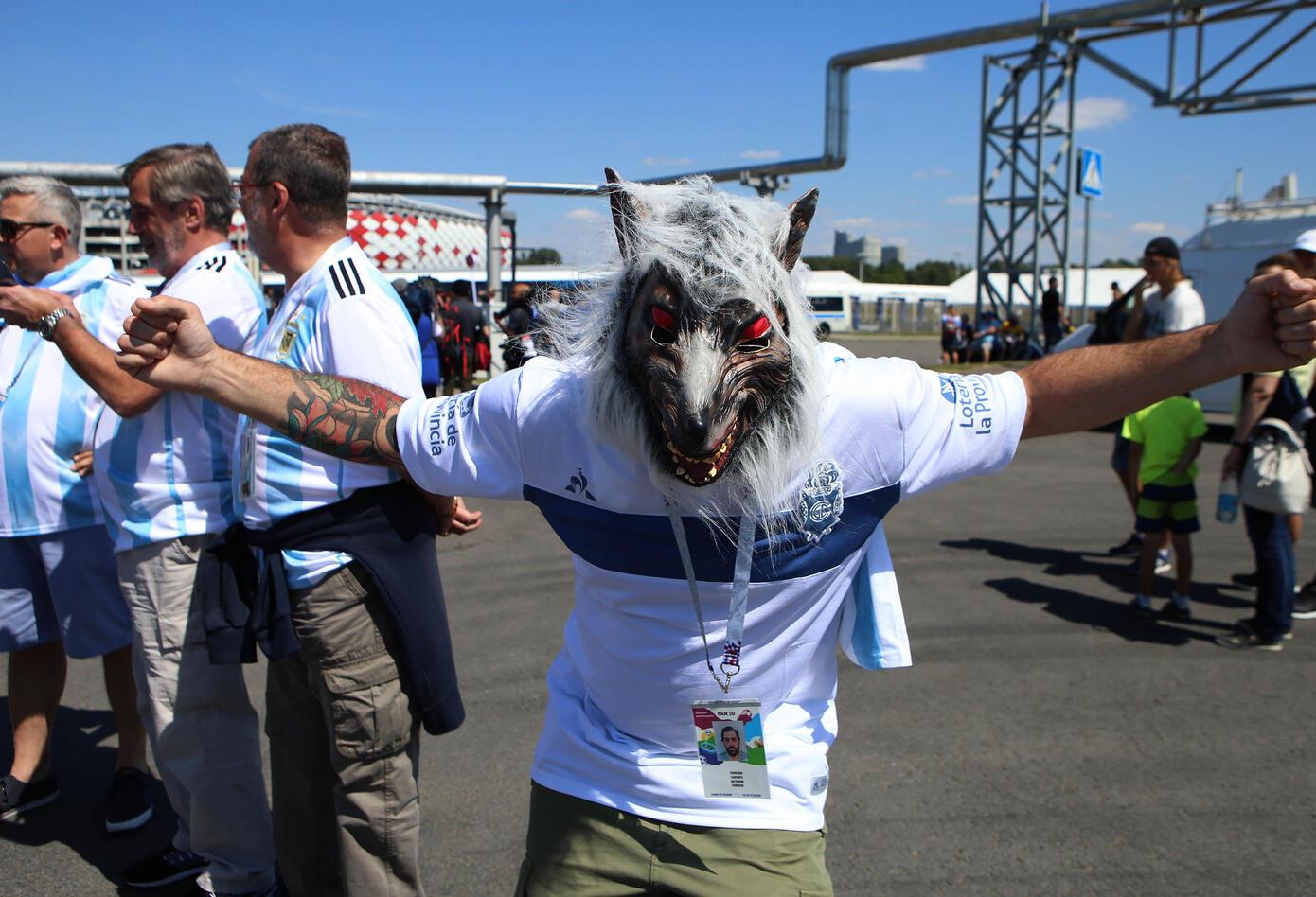 Argentinos se apoderan de las calles de Moscú antes del encuentro Argentina Vs Islandia