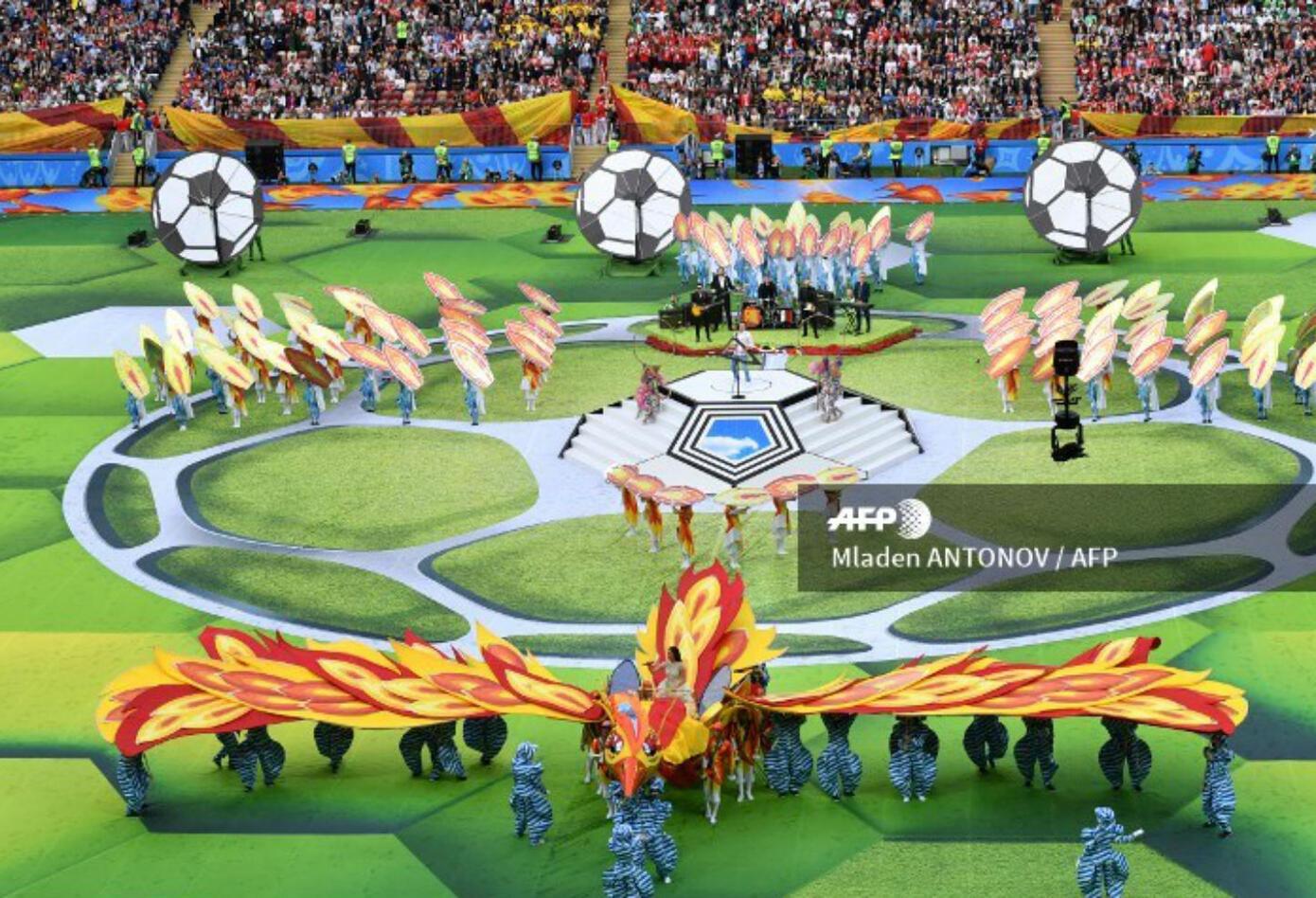 Así fue la inauguración del Mundial de fútbol Rusia 2018.
