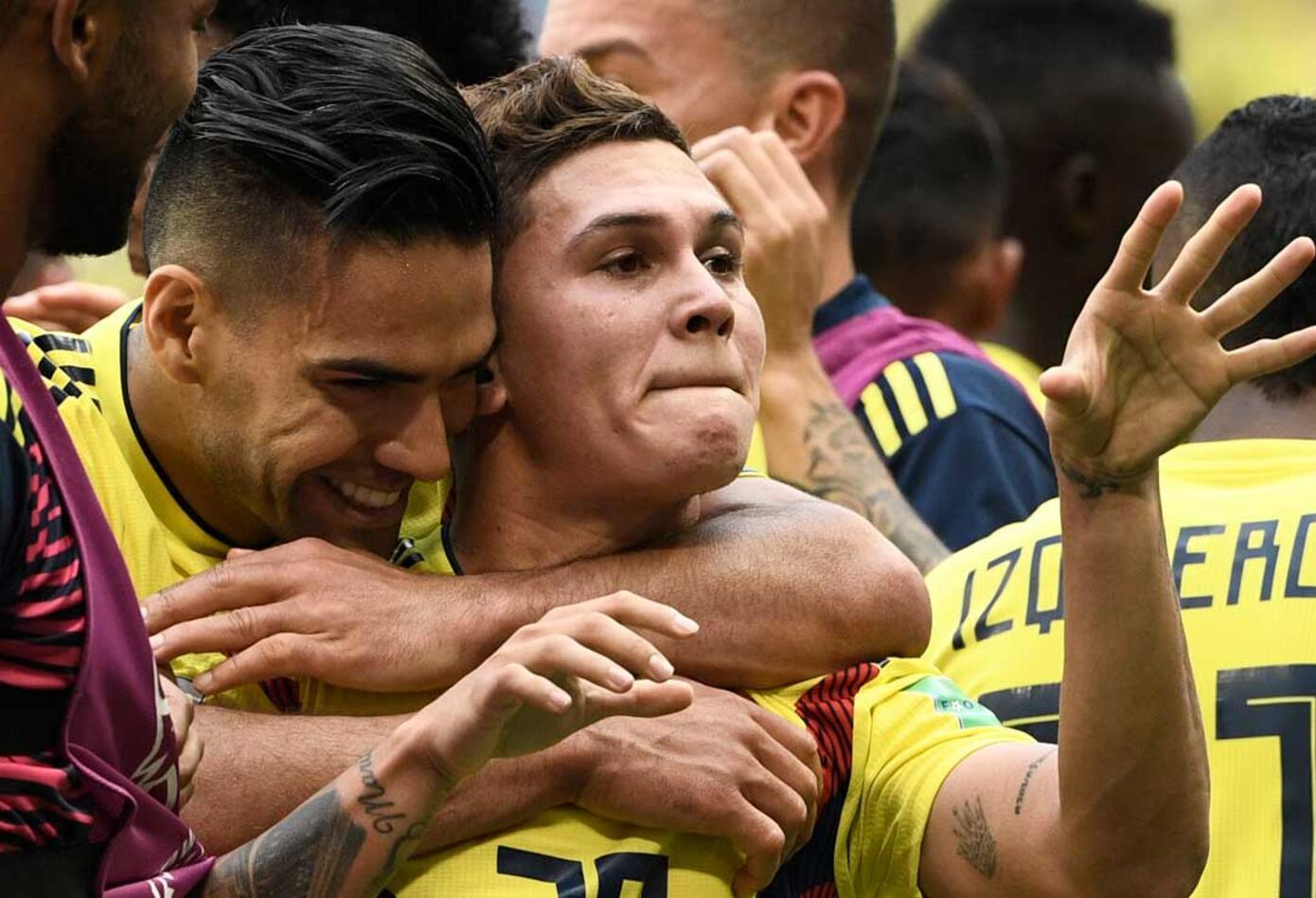 Celebración gol de Juan Fernando Quintero