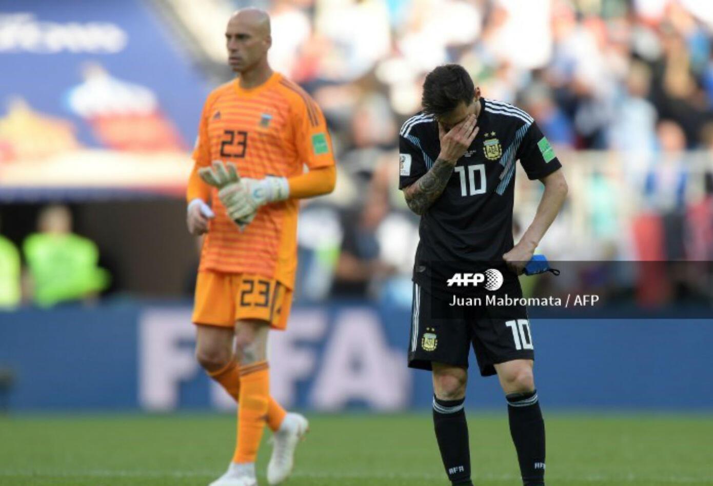 Lionel Messi en su decepción absoluta