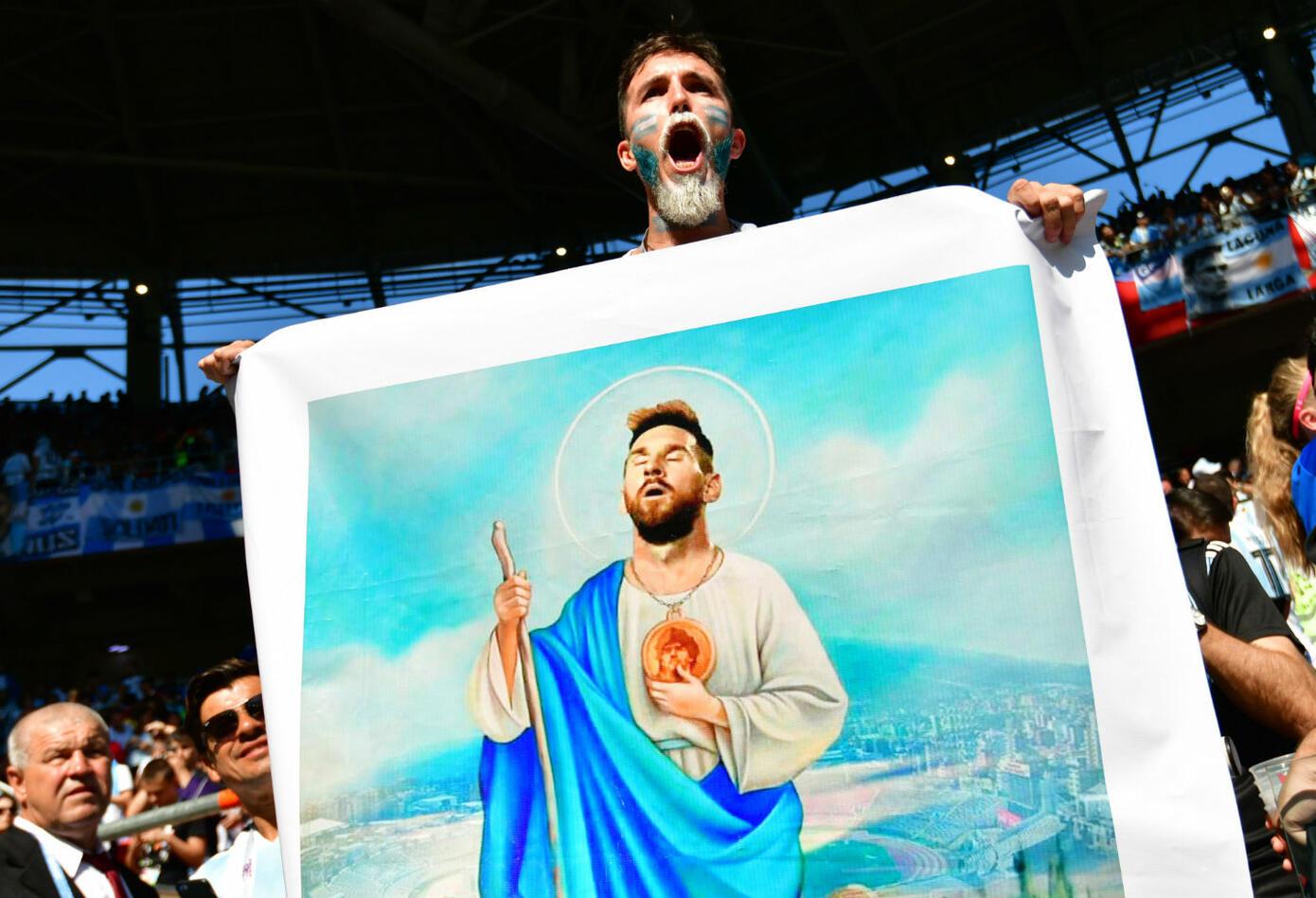 Poco pudo hacer Lionel Messi en el partido Argentina vs Islandia