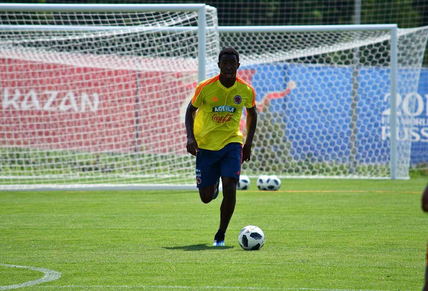 La Selección Colombia entrenando en Kazán, antes de partir a Samara