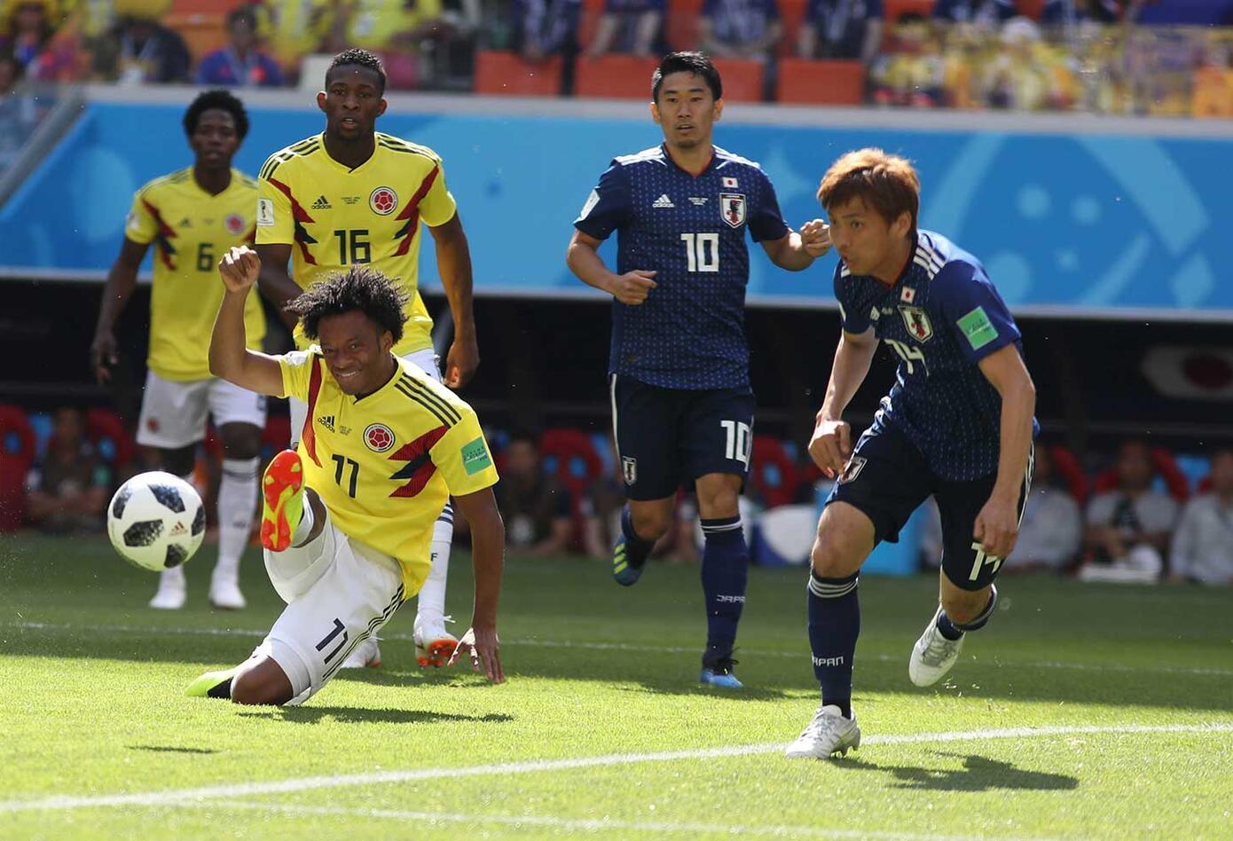 Colombia ante Japón (primer tiempo)