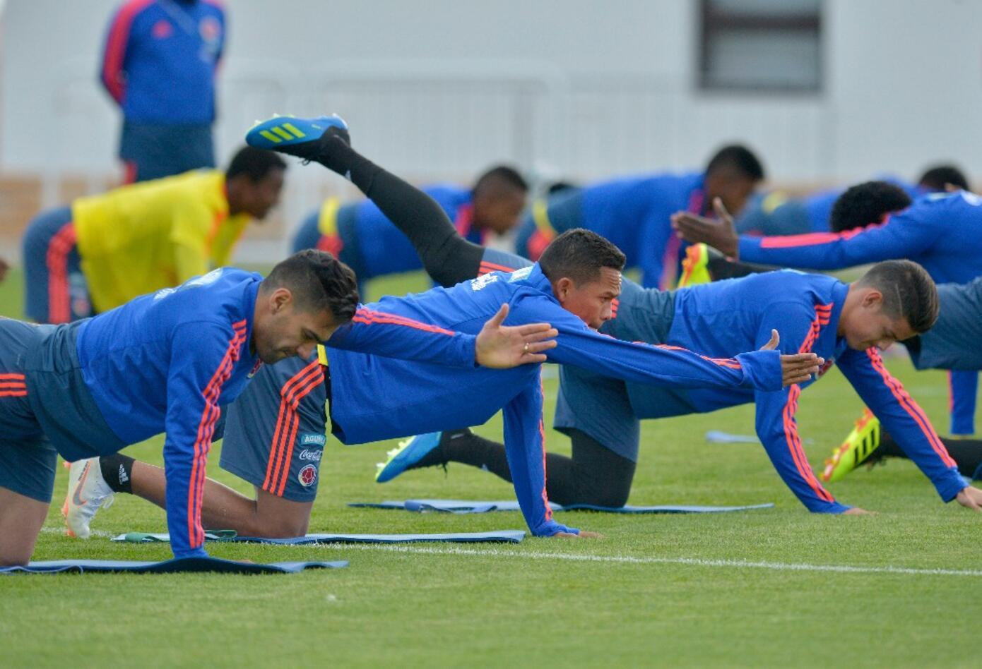Selección Colombia en sus entrenamientos en Kazán