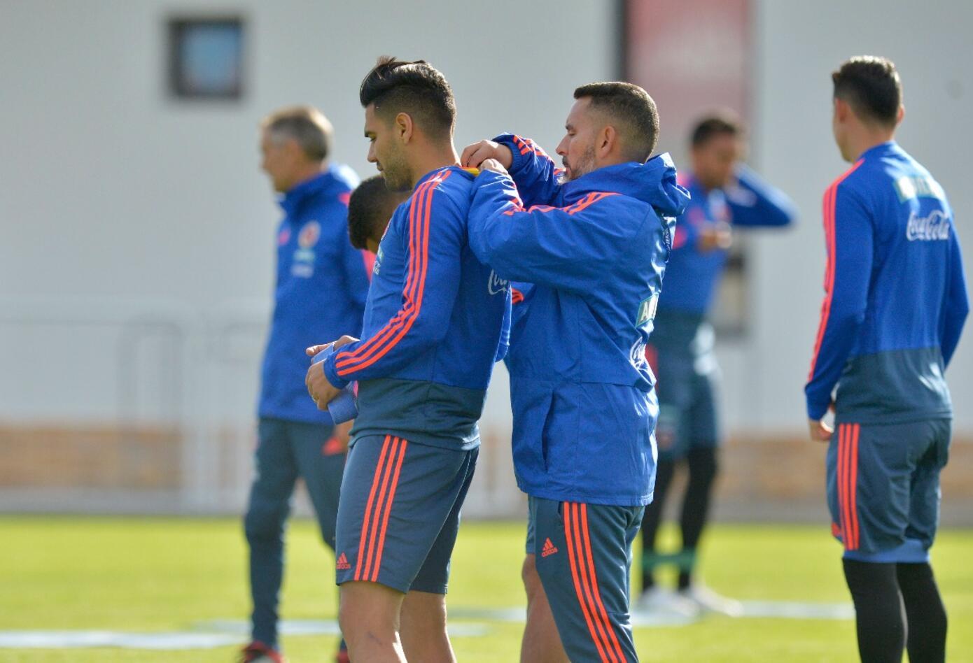 Selección Colombia en entrenamiento en Kazán