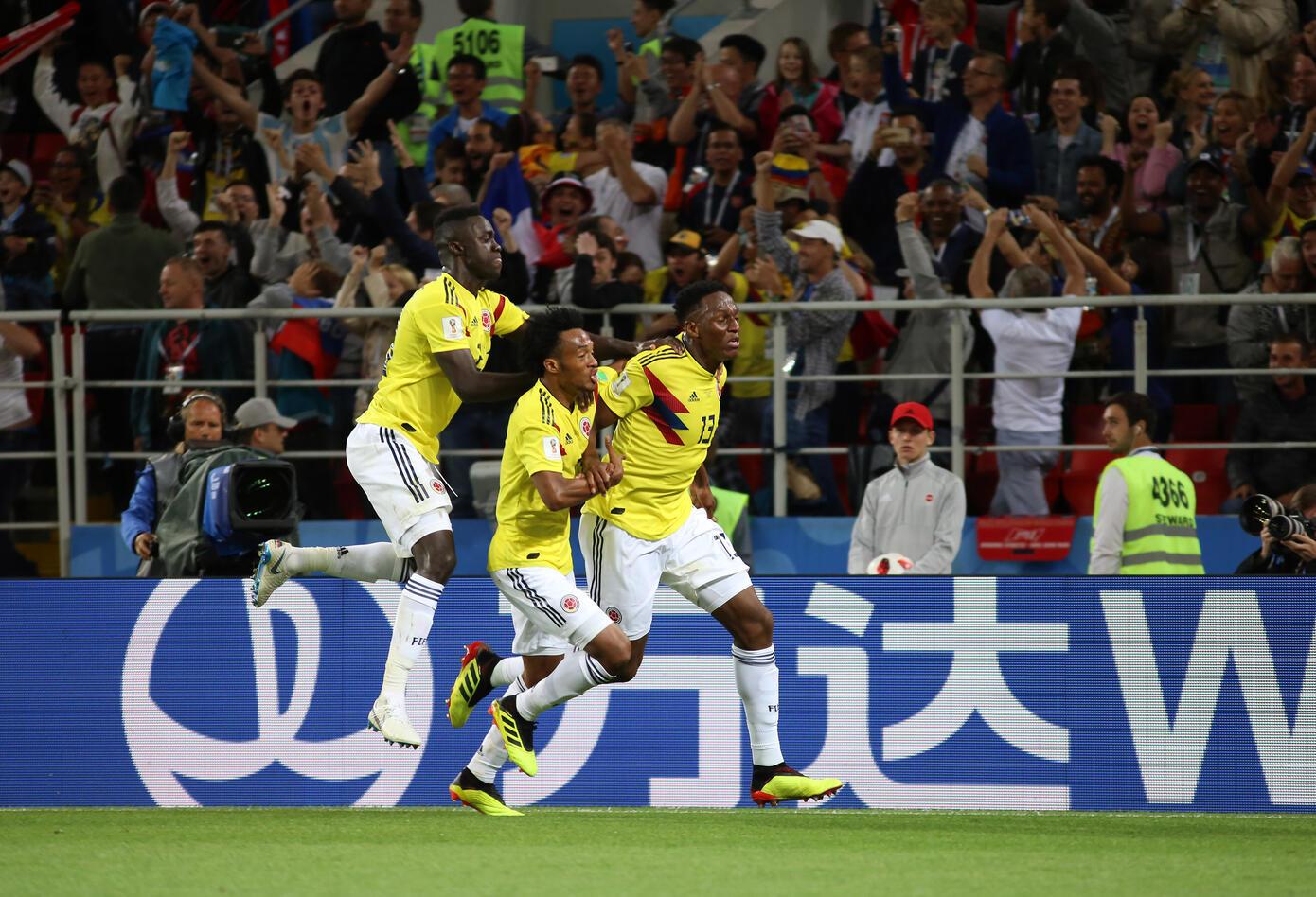 Gol Yerry Mina Colombia Inglaterra Rusia 2018 3