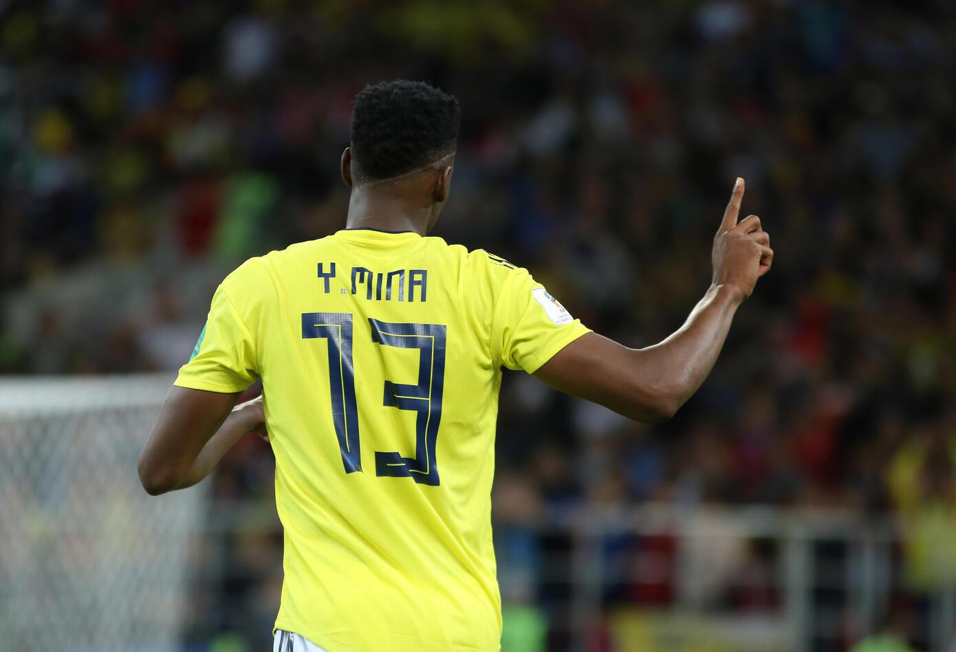 Gol Yerry Mina Colombia Inglaterra Rusia 2018 6