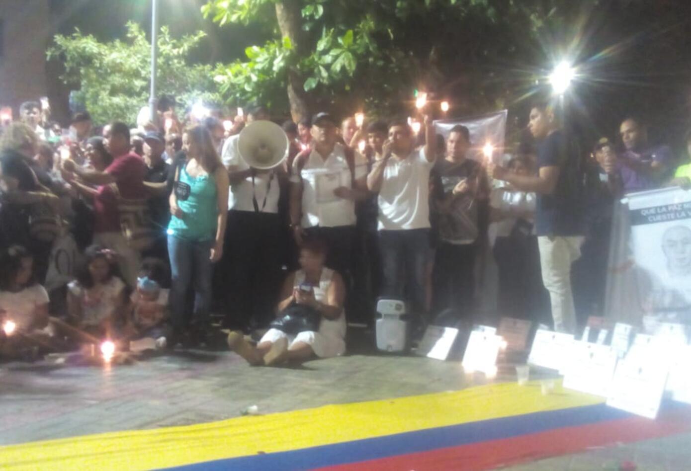 Velatón en Barranquilla