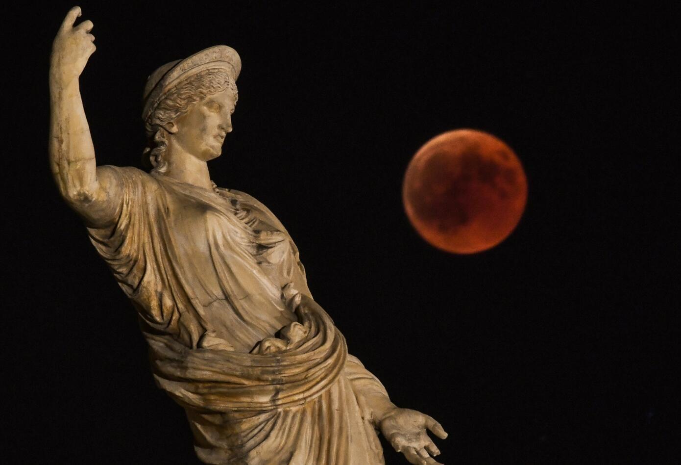Eclipse en Atenas, Grecia