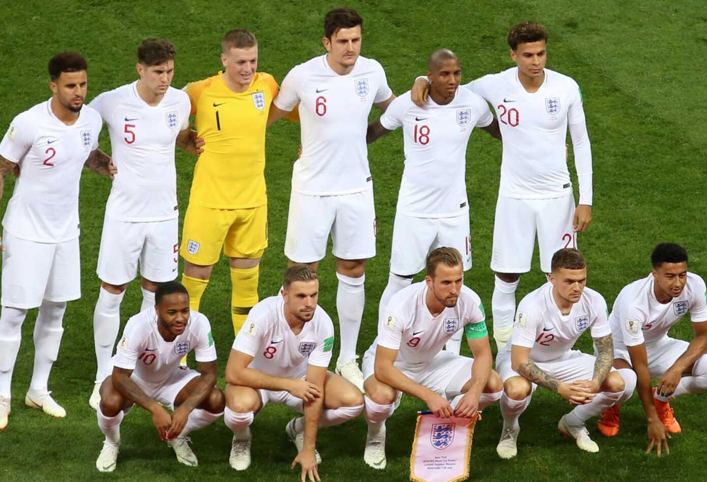 Inglaterra formado ante Croacia en semifinales del Mundial de Rusia 2018