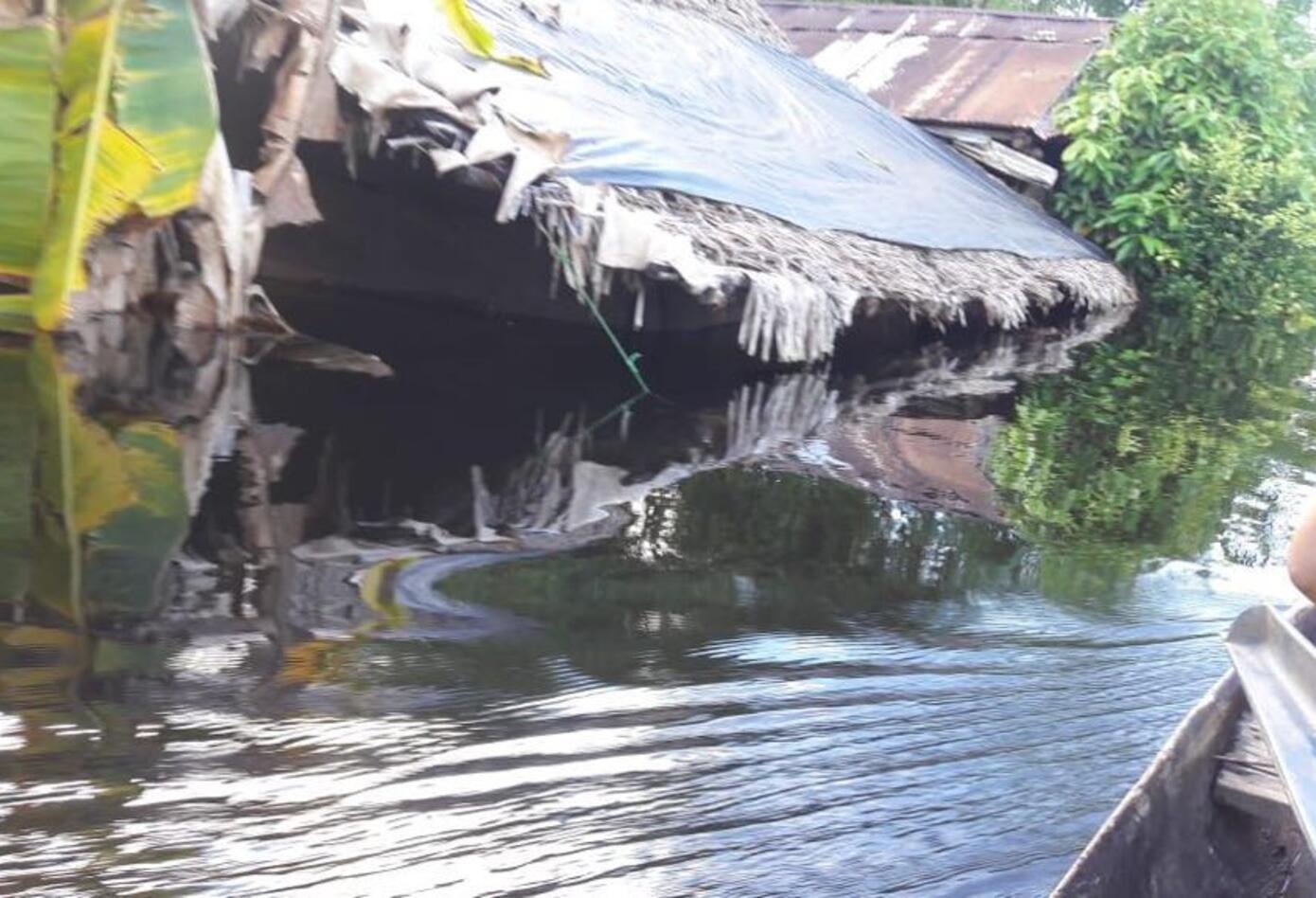 Así se viven las inundaciones en Guainía